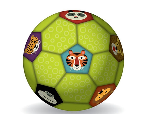 Soccer Ball Jungle 18 cm de Crocodile Creek