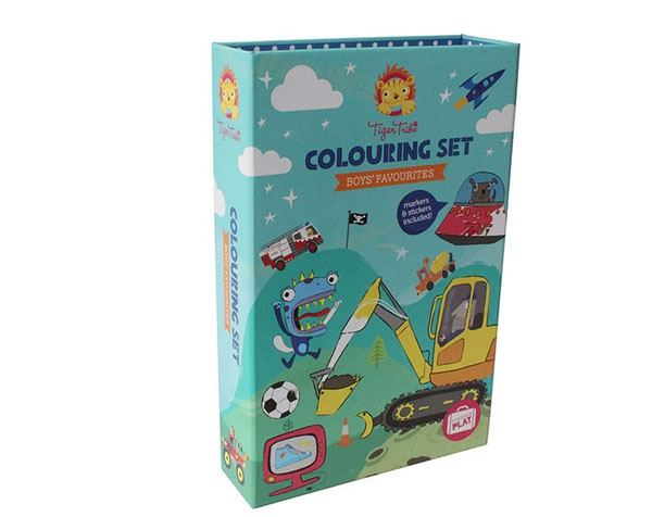 Colouring Sets Boys Favourites de Tiger Tribe