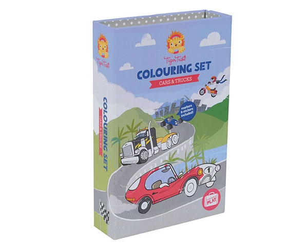 Colouring Sets Cars & Trucks de Tiger Tribe