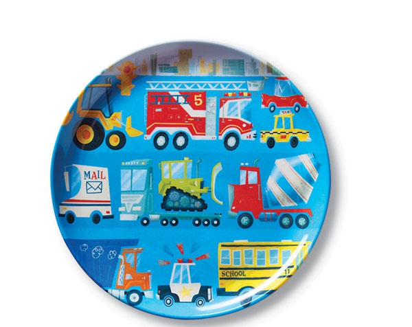 Dinnerware Busy Vehicles Plate de Crocodile Creek