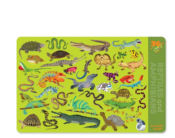 Dinnerware Placemat 36 Reptiles & Amphibians de Crocodile Creek