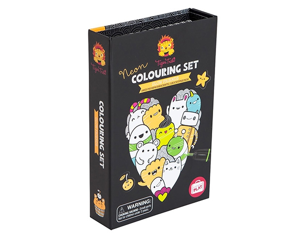 Colouring set Neon Glow friends de Tiger Tribe