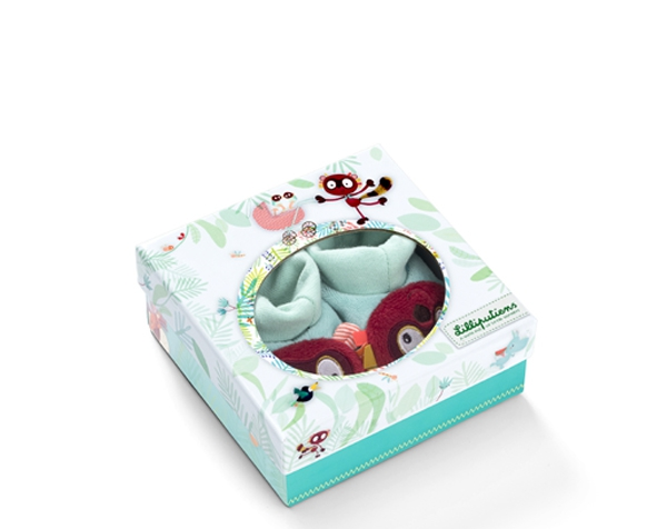 Georges baby slippers de Lilliputiens