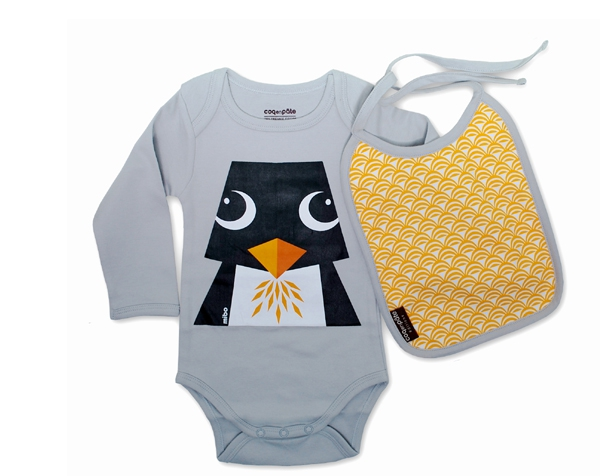Penguin Grey body ML + BIB T-12 M  de Coq en Pâte