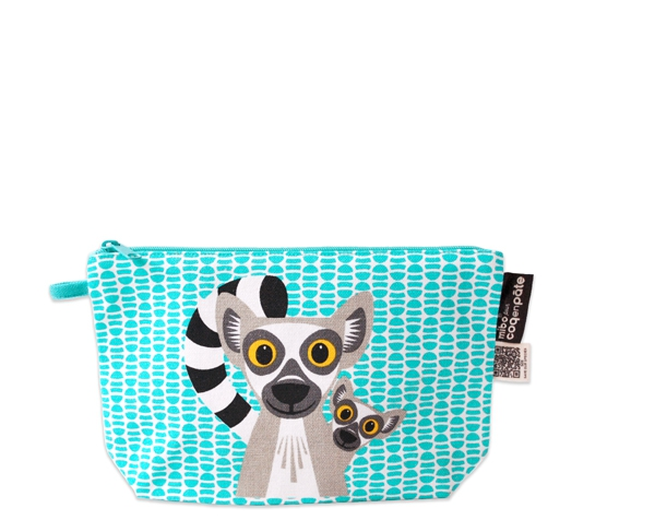 Lemur Green pencil case de Coq en Pâte