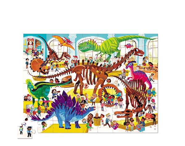 Puzzle Day at the Museum Dinosaur 72p de Crocodile Creek