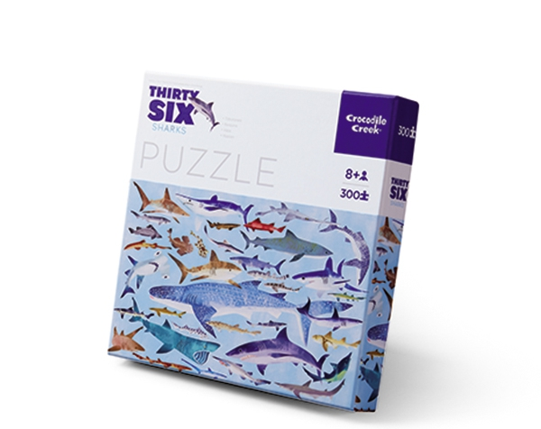 Puzzle Classic 300 p 36 Sharks  de Crocodile Creek