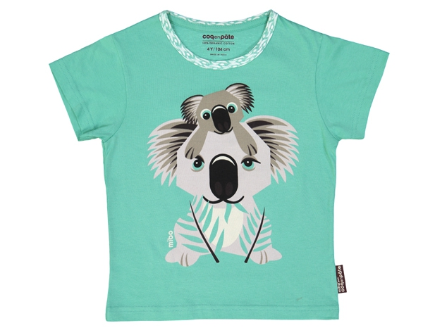 Koala light green T-Shirt T-1 de Coq en Pâte