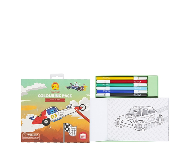 Colouring Pack/Supercars de Tiger Tribe