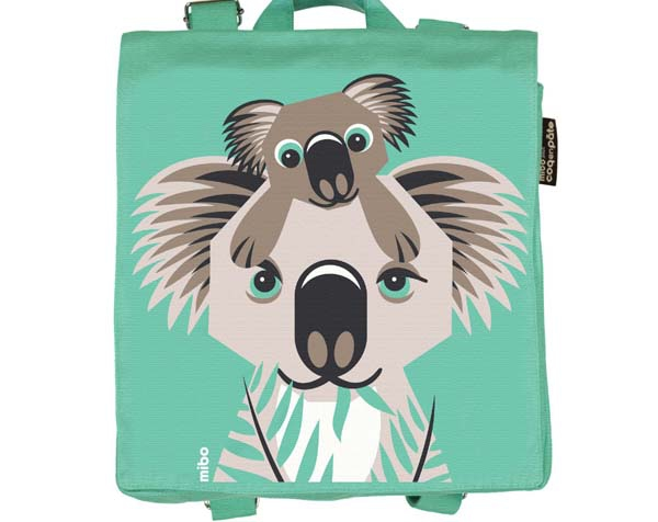 Koala Light Green Backpack de Coq en Pâte