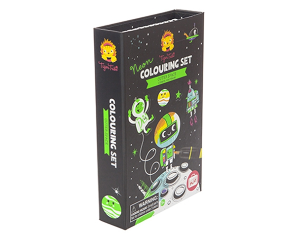 Neon Colouring Sets Outer Space de Tiger Tribe
