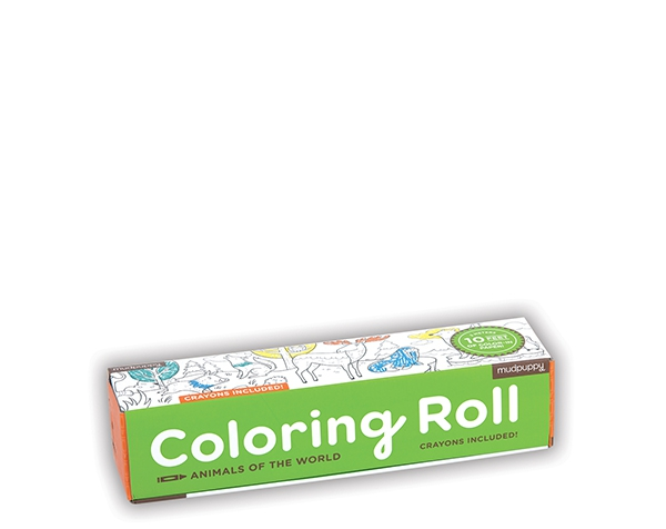 Coloring Roll/Animals of the World de Mudpuppy