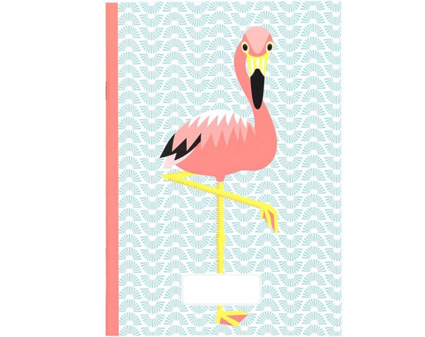 Flamingo Light Blue Coloring and Writing Notebook de Coq en Pâte