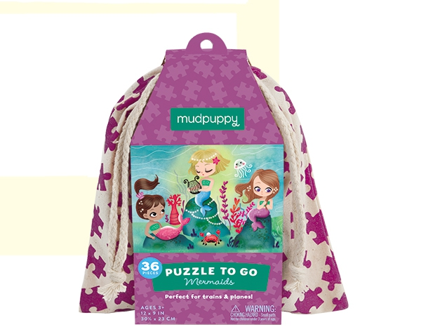 Puzzle To Go/Mermaids de Mudpuppy