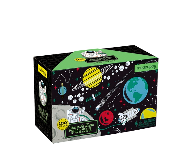 Glow in Dark Puzzle/Outer Space de Mudpuppy