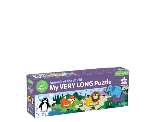 30 PC Long Puzzle/Animals of World  de Mudpuppy