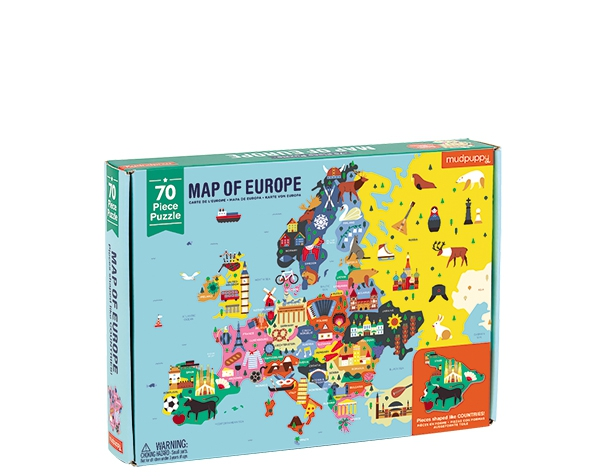 70 PC Geography Puzzle/Europe  de Mudpuppy