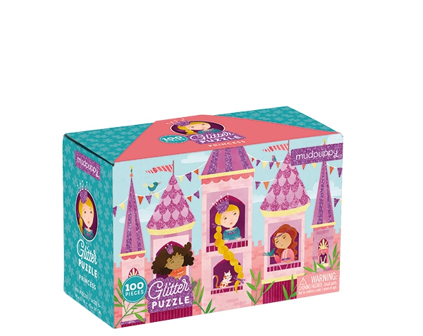 100 PC Glitter Puzzle/Princess  de Mudpuppy
