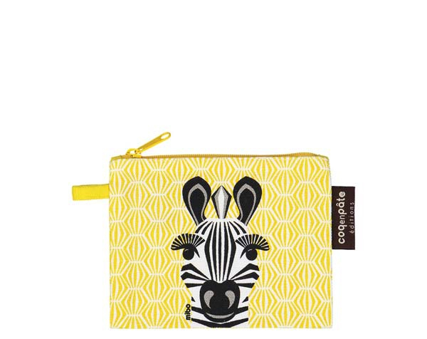 Zebra Yellow Purse de Coq en Pâte