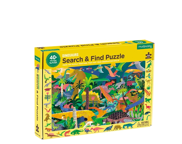 Search & Find Puzzle/Dinosaurs de Mudpuppy