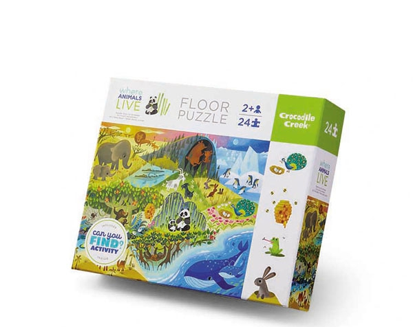 Puzzle 24 pc. Early Learning Animals Live de Crocodile Creek