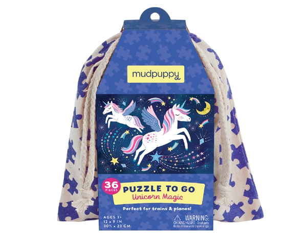 Puzzle To Go Unicorn Magic  de Mudpuppy