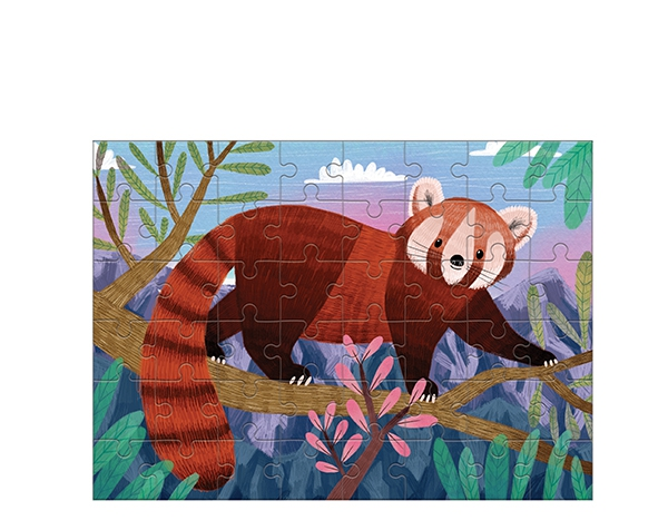 Mini Puzzle Red Panda 48 pc de Mudpuppy