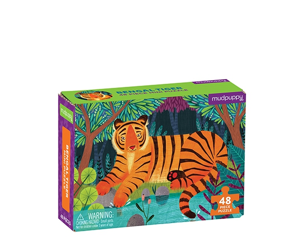 Mini Puzzle Bengal Tiger 48 pc de Mudpuppy