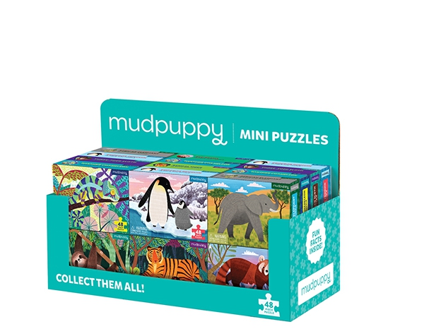 Display 24 Mini Puzzle (Wild  life) de Mudpuppy