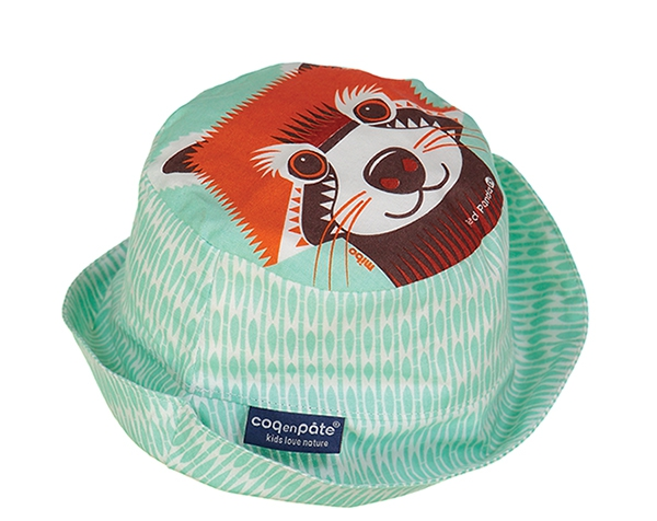 Red Panda (Light mint)  Sun Hat T-L de Coq en Pâte