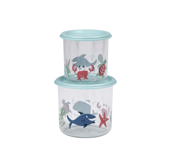 Ocean Good Lunch Snack Containers Large (Set of 2) de Sugarbooger