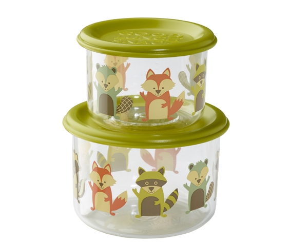 What Did The Fox Eat? Good Lunch Snack Containers (Set of 2) de Sugarbooger