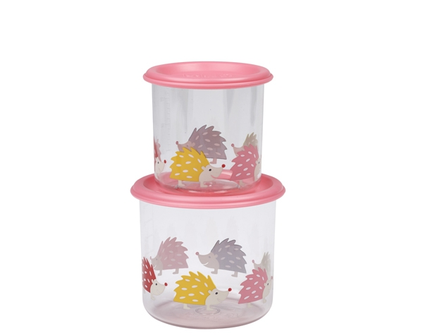 Hedgehog Good Lunch Snack Containers Large (Set of 2) de Sugarbooger