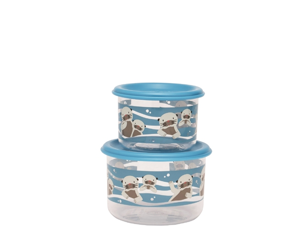 Baby Otter Good Lunch Snack Containers (Set of 2) de Sugarbooger