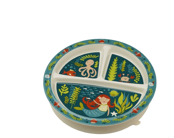 Isla the Mermaid Divided Suction Plate (3 areas)  de Sugarbooger