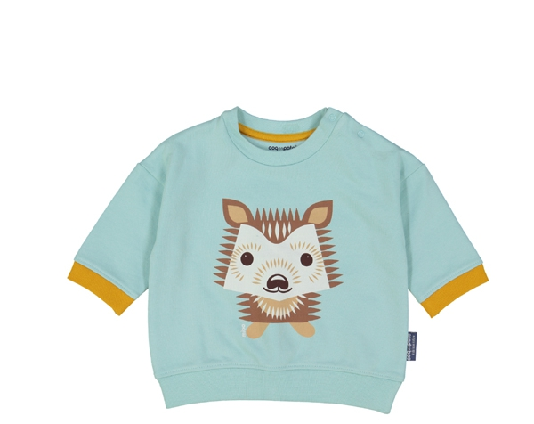 Hedgehog pastel blue Sweat Shirt 3-6 meses de Coq en Pâte