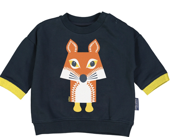 Fox Slaten Grey Sweat Shirt 6 Y. de Coq en Pâte