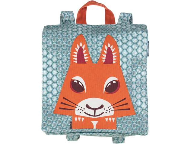 Squirrel teal blue BackPack   de Coq en Pâte