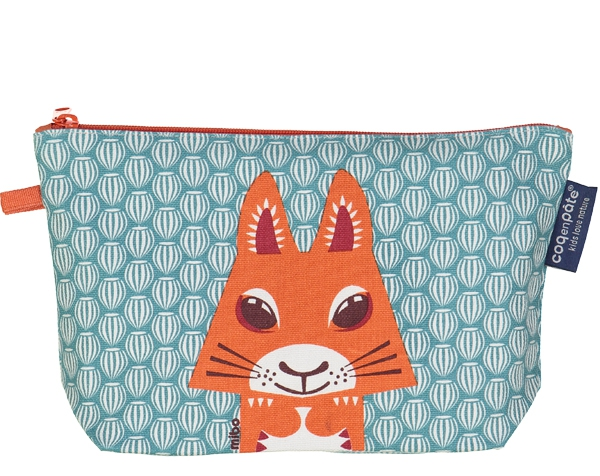 Squirrel teal blue Pencil case de Coq en Pâte