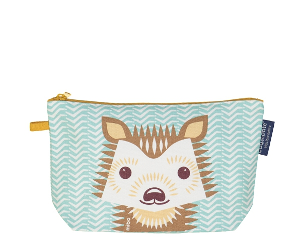 Hedgehog pastel blue Pencil case de Coq en Pâte