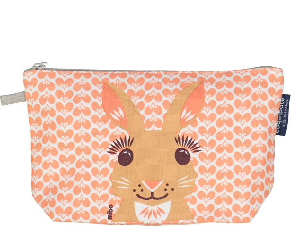 Rabbit Pink cream Pencil case de Coq en Pâte