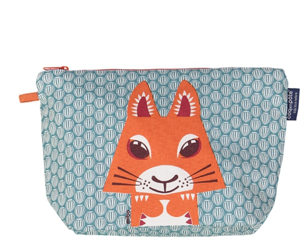 Squirrel teal blue Large Toiletry Pouch de Coq en Pâte
