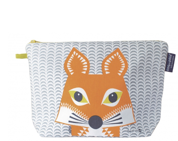 Fox Slaten Grey Large Toiletry Pouch de Coq en Pâte