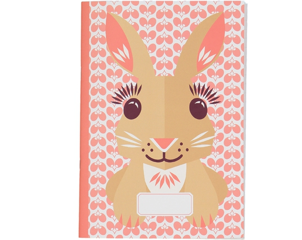 Rabbit Pink cream Coloring and writting Notebook de Coq en Pâte