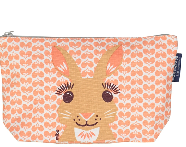 Rabbit Pink cream Large Toiletry Pouch de Coq en Pâte