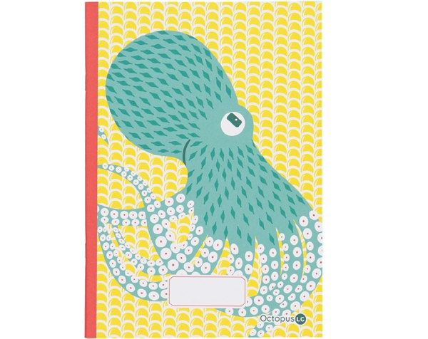 KLO Notebook Octopus Yellow de Coq en Pâte Permanente y Accesorios