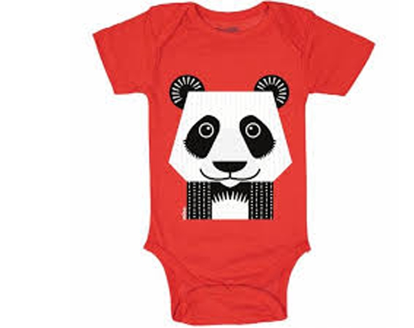 Panda Red Body Suit M/C 12 m. de Coq en Pâte