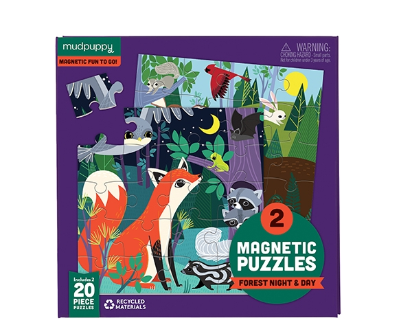 Magnetic Fun Forest Night & Day de Mudpuppy