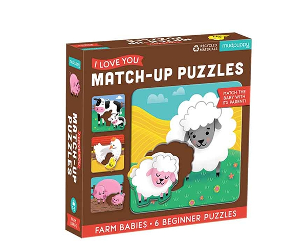 Match-Up Puzzle Farm Babies 2 pcs de Mudpuppy