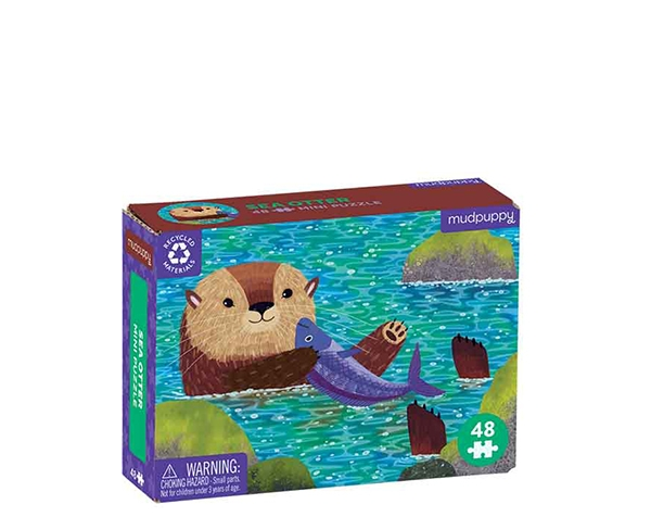 Mini Puzzle (Ocean life) Sea Otter 48 pc de Mudpuppy